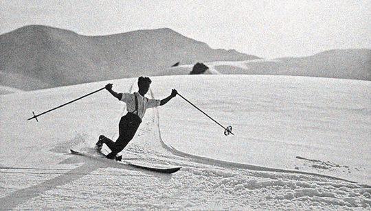 Elegant swing! The classic Telemark Style