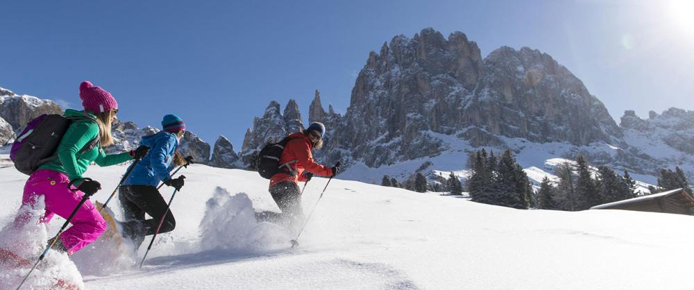 Snowshoeing on the Alpe di Siusi // Photo: Alpe di Siusi