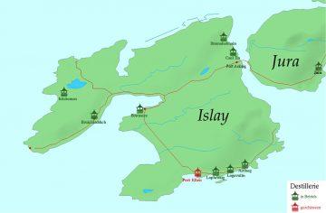 The eight active distilleries on Islay (graphic Wikipedia // Balgair)
