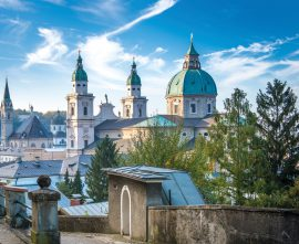 The Salzburg Cathedral in Baroque style